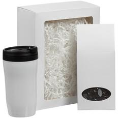 Набор Taiga: термостакан, чай, белый фото