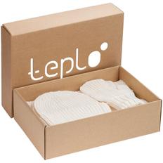 Набор Teplo Nordkyn Full Set: шапка, шарф, варежки, молочно-белый фото