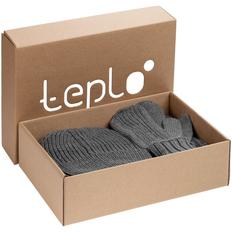 Набор Teplo Nordkyn Full Set: шапка, шарф, варежки, серый фото