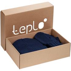 Набор Teplo Nordkyn Full Set: шапка, шарф, варежки, синий фото