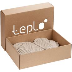 Набор Teplo Nordkyn Full Set: шапка, снуд, варежки, бежевый фото