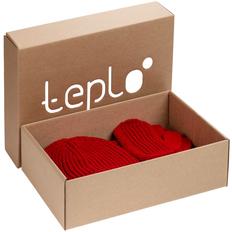 Набор Teplo Nordkyn Full Set: шапка, снуд, варежки, красный фото