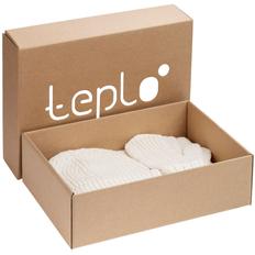 Набор Teplo Nordkyn Full Set: шапка, снуд, варежки, молочно-белый фото