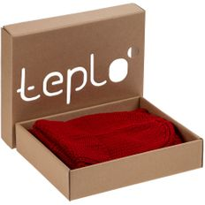 Набор Teplo Nordkyn: шапка, снуд, красный фото