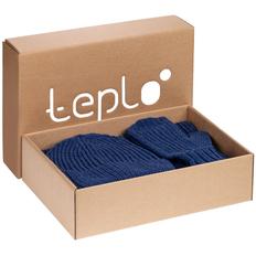 Набор Teplo Nordkyn: шарф, шапка, варежки, синий фото
