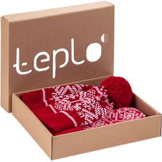 Набор Teplo Onego: шарф, шапка, варежки, красный фото