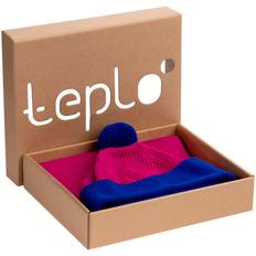 Набор Teplo Snappy: шапка, шарф, фуксия / синий фото