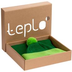 Набор Teplo Snappy: шапка, шарф, зеленый / салатовый фото