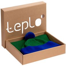 Набор Teplo Snappy: шапка, шарф, зеленый / синий фото