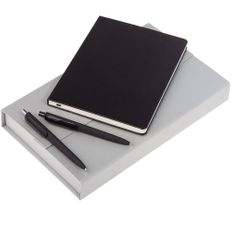 Набор Trio: блокнот Scope, ручка шариковая Prodir, карандаш механический Prodir, черный фото
