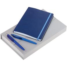 Набор Trio Colors: блокнот BiColor, ручка шариковая Prodir, карандаш механический Prodir, синий фото