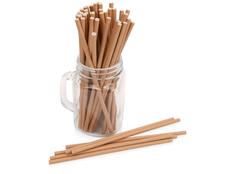 Набор трубочек Kraft straw, крафт фото