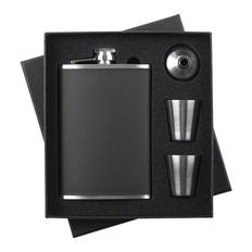 Набор Trusty: фляжка, стаканчики и воронка, черный фото