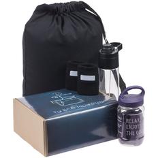 Набор «Ты все можешь»: рюкзак Nock, бутылка для воды Vaske Flaske, полотенце Weddell, напульсники WristSafe, фиолетовый фото
