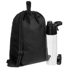 Набор Ultra Runner: смарт-браслет Klikklog, бутылка для воды с пульверизатором Vaske Flaske, рюкзак-мешок Melango, черный фото