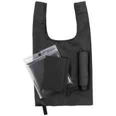 Набор Umbrella Academy: зонт складной Unit Basic, ежедневник Flex Shall, складная сумка Packins, дождевик CloudTime, черный фото