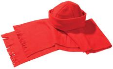 Набор Unit Fleecy: шарф, шапка, красный фото