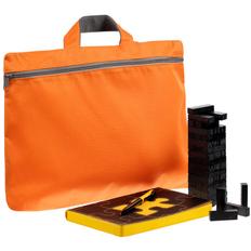Набор «Управление персоналом»: ежедневник недатированный, игра «Деревянная башня мини», сумка-папка Simple, ручка шариковая Pin Special, черный / желтый фото