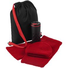 Набор Uptown: рюкзак, термостакан Relief, шапка Nordkapp, шарф Nordkapp, красный/ черный фото