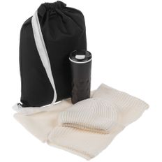 Набор Uptown: термостакан, шапка, шарф, белый фото