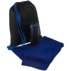Набор Uptown: термостакан, шапка, шарф, синий фото