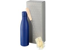 Набор Vasa: бутылка с медной изоляцией, щетка для бутылок, синяя фото