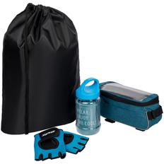Набор велосипедиста Spokes And Levers: перчатки для фитнеса, охлаждающее полотенце, велосумка, синий фото