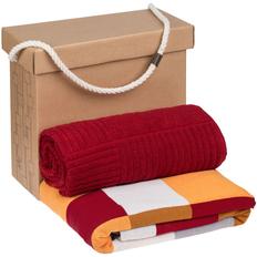 Набор Very Marque Farbe: плед, полотенце большое, бордовый фото