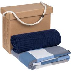 Набор Very Marque Farbe: плед, полотенце большое, синий фото