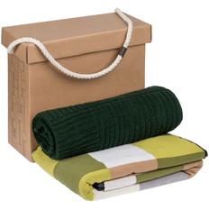 Набор Very Marque Farbe: плед, полотенце большое, зеленый фото