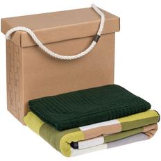 Набор Very Marque Farbe: плед, полотенце среднее, зеленый фото