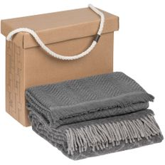 Набор Very Marque Morena: плед, полотенце банное большое, серый фото