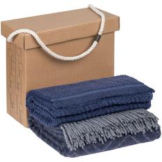 Набор Very Marque Morena: плед, полотенце банное большое, синий фото