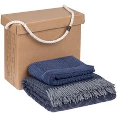 Набор Very Marque Morena: плед, полотенце банное среднее, синий фото
