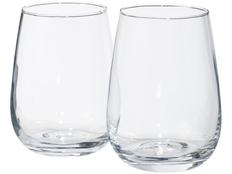 Набор винный Barola из 2 стаканов и маркера, прозрачный фото