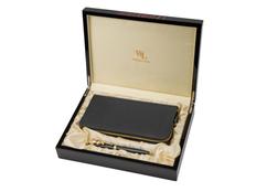 Набор William Lloyd : кошелек мужской, ручка шариковая, черный / золотой фото