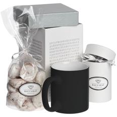 Набор Wishmaker: кружка, горячий шоколад, меренги, черный / белый фото