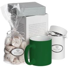 Набор Wishmaker: кружка Sippy, меренги Baiser, шоколадные дропсы Melt It, зеленый / белый фото