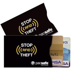 Набор из 2 чехлов для банковских карт Pacsafe RFIDsleeve 25, черный фото
