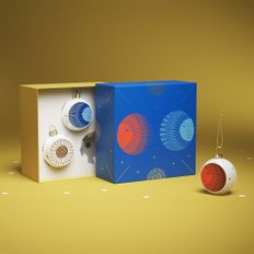 Набор из 3 шаров-полусфер Farforite «Сумеречный сад» в подарочной коробке, разноцветный фото