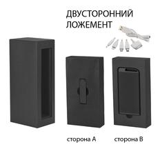 Набор зарядное устройство Theta 4000 mAh + флеш-карта Case 8Гб в футляре, покрытие soft touch, графит фото