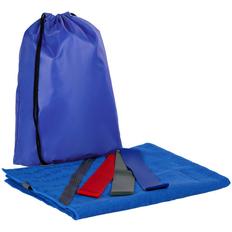 Набор Stride Zen Gym: полотенце-коврик, эластичные ленты, синий фото