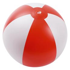 Надувной пляжный мяч Jumper, красный с белым фото
