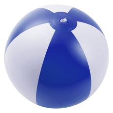 Надувной пляжный мяч Jumper, синий с белым фото