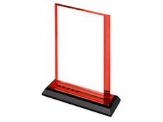 Награда Line, красная/прозрачная фото