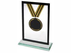 Награда Медаль на постаменте, черная/ желтая фото