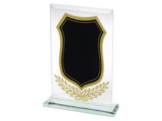 Награда на постаменте Герб, черная/ прозрачная фото