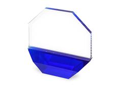Награда Octagon, синяя/прозрачная фото