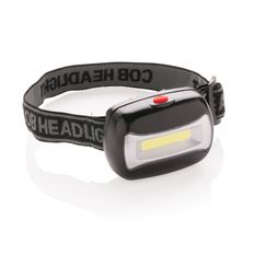 Налобный фонарь COB (Chip-on-Board), черный фото