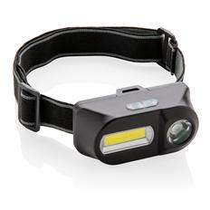 Налобный фонарь COB (Chip-on-Board) и LED, чёрный фото